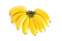 Ripe banana on white background. Beautiful Thailand fruit isolate on white background Stock Images