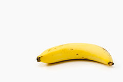 Ripe banana on white background - diet food concept with copy sp Stock Images