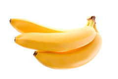 Ripe bananas. On white background Royalty Free Stock Photography