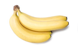 Ripe bananas. Isolated over white background Stock Images