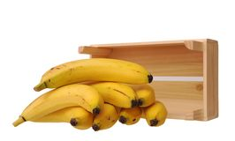 Ripe bananas and crate i Stock Photo