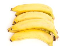 Ripe bananas isolated on white Stock Photography