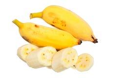 Ripe bananas isolated on white background Royalty Free Stock Photo