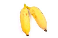 Ripe bananas isolated on white background Royalty Free Stock Photos