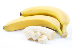 The ripe bananas Stock Photos