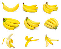 Ripe bananas set Royalty Free Stock Photo