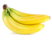Ripe bananas on white b Stock Photos