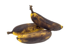 Ripe bananas on a white background. Royalty Free Stock Photos
