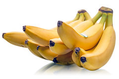 Ripe bananas on white Stock Photo