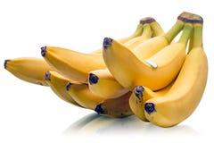 Ripe bananas on white Stock Photo