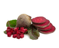 Ripe beetroot. Beetroot, isolated over white background Stock Images