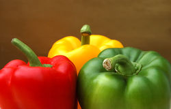 Ripe bell peppers Stock Image