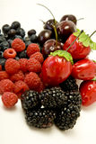 Ripe berries. A selection of colorful ripe berries and fruit Stock Photos