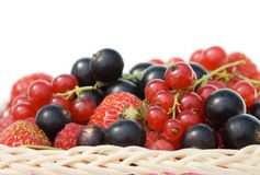 Ripe berries in a basket Stock Photo