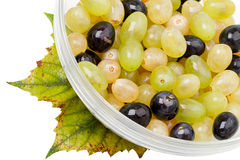 Ripe berries grapes and grape leaf Stock Photography