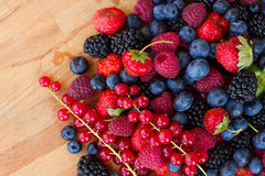 Ripe  of  berries on table Royalty Free Stock Photos