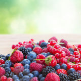 Ripe  of  berries on table Stock Image