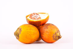 Ripe Betel nut is a yellowish orange Royalty Free Stock Photography