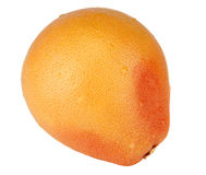The ripe big grapefruit. Is photographed on a white background Stock Photography