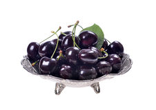 Ripe black cherries Royalty Free Stock Photo
