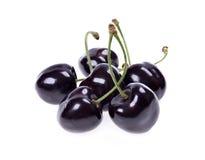 Ripe black cherries Royalty Free Stock Photos