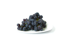 Ripe black grapes Royalty Free Stock Images
