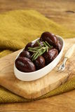 Ripe black kalamata olives Stock Photography