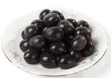 Ripe black olives Stock Image