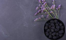 Ripe blackberry fruit royalty free stock photography