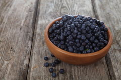 Ripe blueberries in a bowl Stock Photography