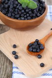 Ripe blueberries in a bowl Royalty Free Stock Image