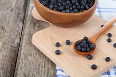 Ripe blueberries in a bowl Stock Photos