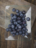 Ripe blueberries, on wood Stock Image