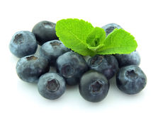 Ripe blueberry with mint Stock Images