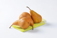 Ripe Bosc pears Royalty Free Stock Image