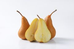 Ripe Bosc pears Royalty Free Stock Images