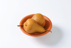 Ripe Bosc pears Stock Photography
