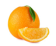 Ripe bright orange Royalty Free Stock Image
