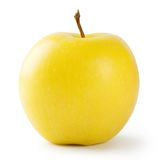 Ripe bright yellow apple Stock Photo
