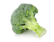 Ripe broccoli. On a white background Royalty Free Stock Photos