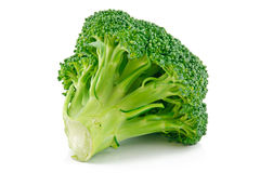 Ripe Broccoli Cabbage Isolated Stock Images
