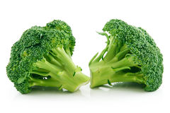 Ripe Broccoli Cabbage Isolated on White Royalty Free Stock Images