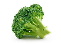 Ripe Broccoli Cabbage Isolated on White Royalty Free Stock Photography