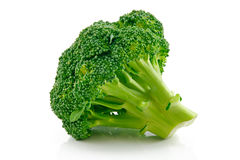 Ripe Broccoli Cabbage Isolated on White Stock Images