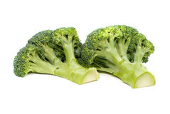Ripe Broccoli Cabbage Isolated on White Background.  Stock Images