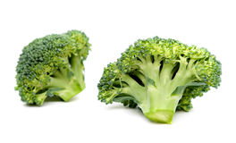 Ripe Broccoli Cabbage Isolated on White Background.  Royalty Free Stock Photos