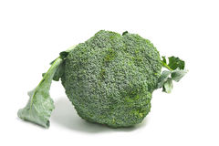 Ripe Broccoli Cabbage  on White Royalty Free Stock Photography