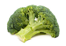 Ripe Broccoli Cabbage  on White Background. 。 Royalty Free Stock Images