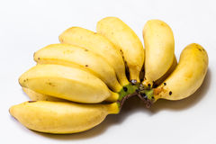 Ripe bunch of little bananas Royalty Free Stock Photos