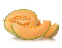 Ripe cantaloupe melon Stock Images